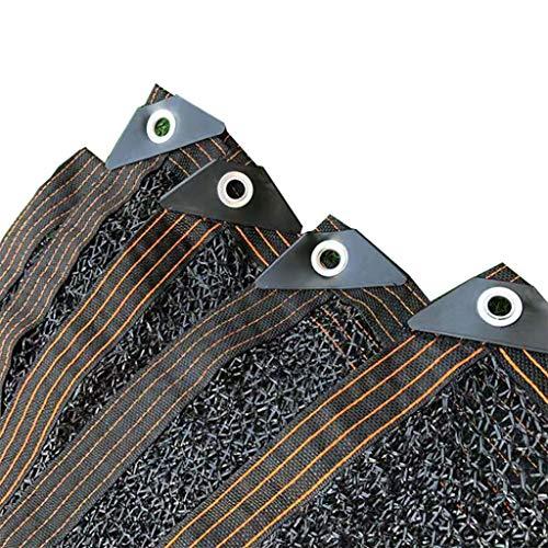 YTQ 38% Paño De Sombra Ligero Y Transpirable Reduzca Los Rayos UV Ojal De Banda De Borde Adecuado para Plantas Valla De Jardín Al Aire Libre Negro(Size:1m x 8m)