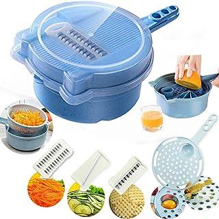 Mandoline Slicer - Adjustable Vegetable Chopper - Kitchen Cutter, Cheese Grater, Shredder for Onion, Potato, Zucchini-13 i...