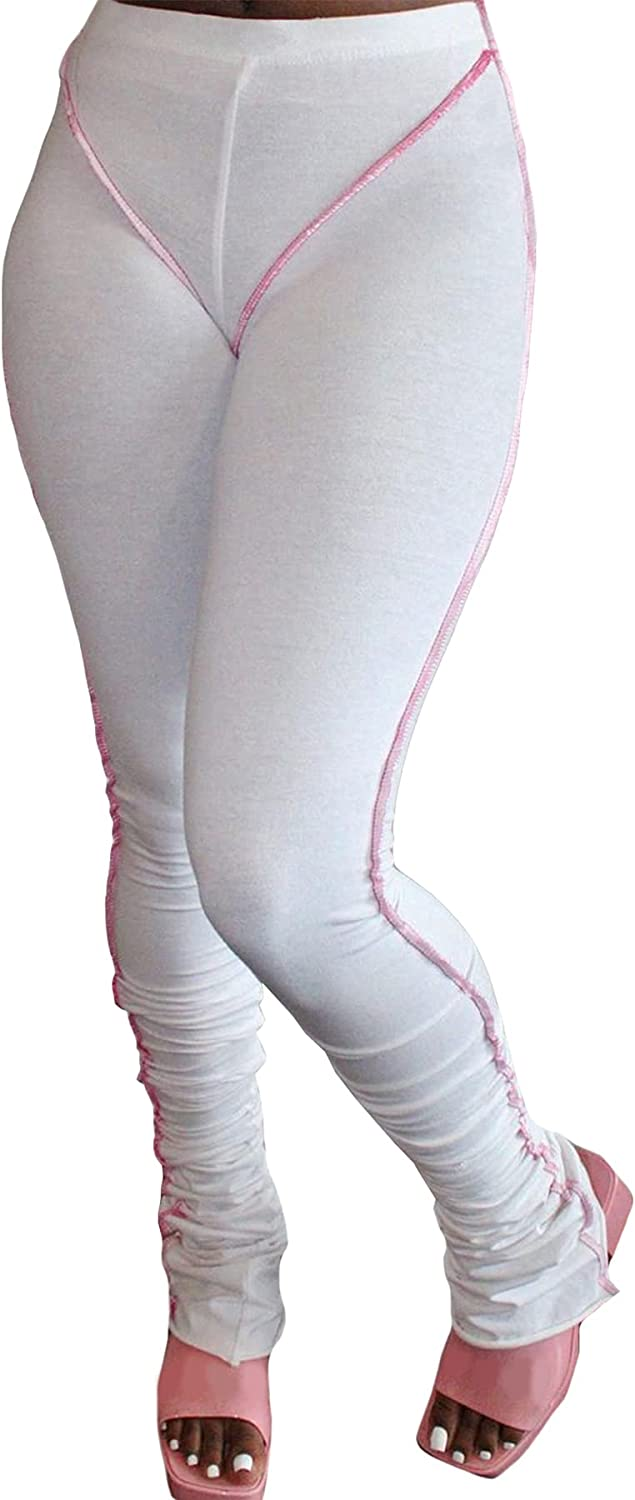 DINGANG Women's High Waist Butt Lift Tights Casual Reverse Wear Slimming Booty Trousers Track Leggings Compression Pants