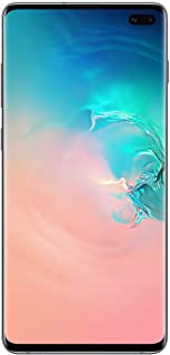 Samsung SM-G975F Galaxy S10+ 128GB SIM-Free Smartphone, Prism White (Renewed)