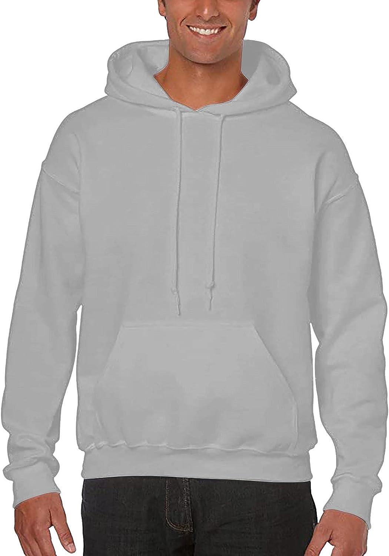 Men's Oversized Hoodie Classic Long Sleeve Plain Color Corded Pullover Crewneck Sweatshirt Basic Hoodies