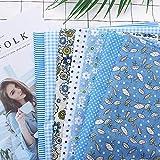 7 piezas de 50 * 50 cm tela de 100% Algodón utilizada para la decoración de costura artesanal telas patchwork DIY....