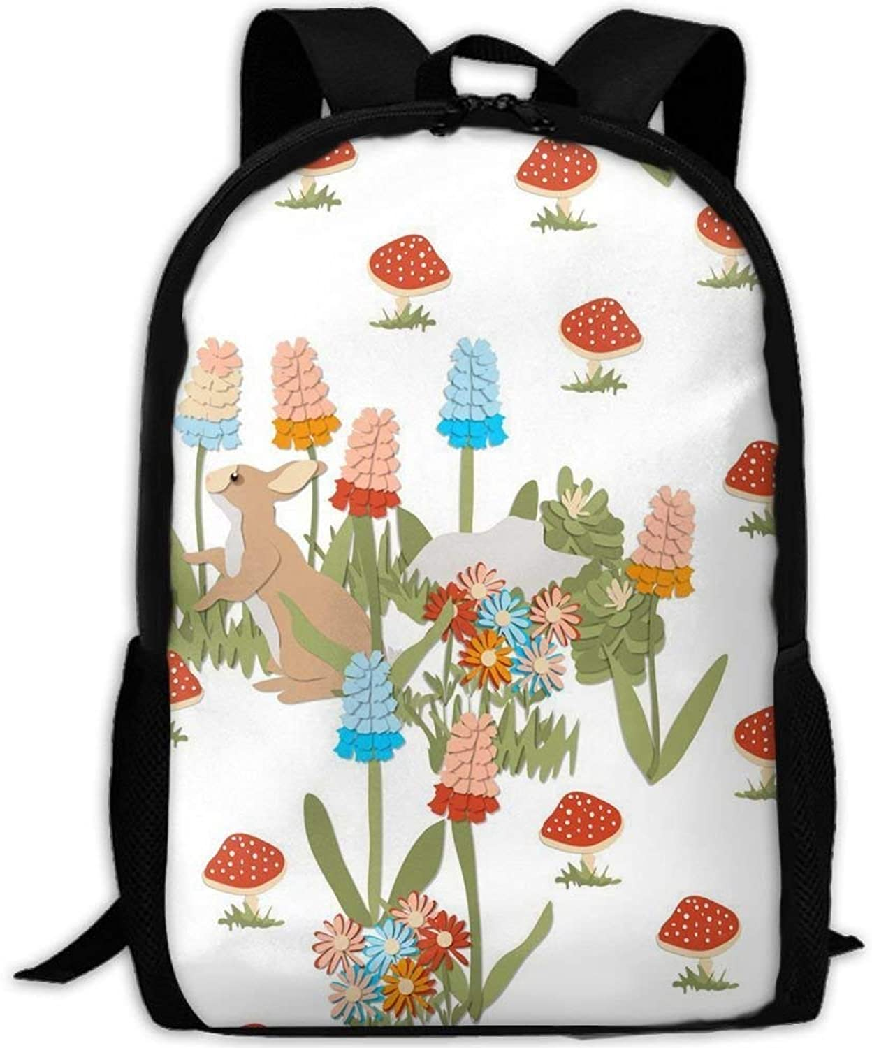 Student Backpack, School Backpack for Laptop,Most Durable Lightweight Cute Travel Water Resistant School Backpack - Bunny In The GNOME Garden B07PZN7N1V  Langfristiger Ruf