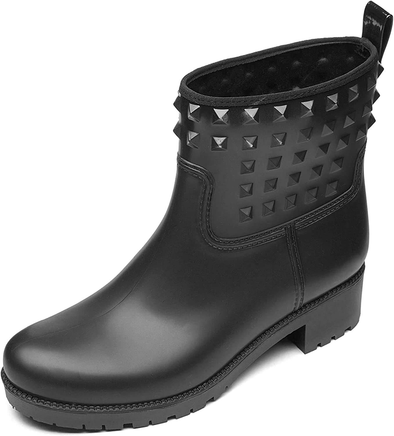 DKSUKO Women's Rain Boots Max 61% OFF with Rivet Wome Rubber Ankle Cheap super special price for