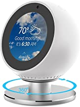 NotoCity Adjustable Stand Compatible Echo Spot Stand 360 Degree Rotation Aluminum Stands (White)