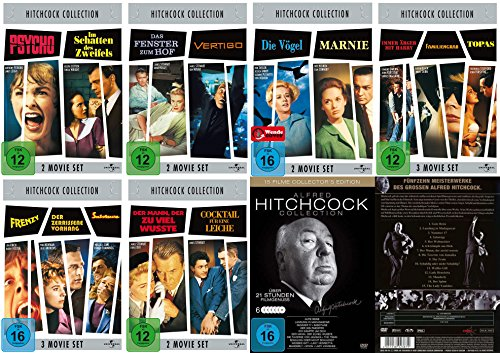 Alfred HITCHCOCK COLLECTION - 27 grosse Klassiker im Paket * 32 STUNDEN FILMGENUSS * DVD Edition