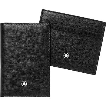 Montblanc Gift Set Unisex Medium Black Leather Card Holder Wallets 116852