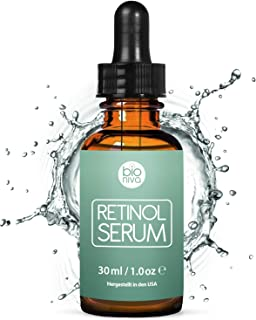 Award-Winning Retinol Serum - 2.5% Retinol Liposome Delivery System with 20% Vitamin C, Aloe, & Vegan Hyaluronic Acid - High Strength Anti Aging Serum for face, décolleté and body from Bioniva 30ml