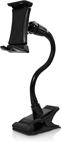 """Macally Adjustable Gooseneck Tablet Holder & Phone Clip - Works with Phones & Tablets up to 8"""" - Flexible Phone Holde..."""