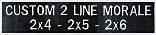 Custom 2 Line Morale Name Tapes with Border, Over 30 Fabrics – 6 Sizes to choose – Made in the U.S.A. – Ships Under 24 Hours