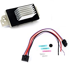 Blower Motor Resistor Kit With Harness - Replaces# 15 81773, 89018778, 89019351, 1581773, 15-81773 -Fits Chevy Silverado, Tahoe, Suburban, GMC Sierra, Yukon & more - AC Heater Control Module (Renewed)