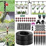 Tencoz Sistema de riego de jardín, 40m Kit de riego por Goteo Riego Manguera de 1/4' automático Rociadores automáticos Kit de riego de jardín para...