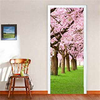 Window Films Static Window Cling Paper,Wood Wallpaper for Door Home Design Stickers on The Doors Vinyl DIY Adhesive Waterproof Removable Poster Decor Art Mural Decals (15