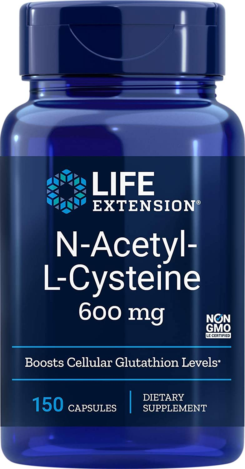 Life Extension N-Acetyl-L-Cysteine 600mg, 60 Vegetarian Capsules: Health & Personal Care