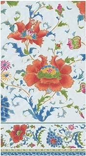 Caspari Chinese Ceramic Paper Guest Towel Napkins in White, Four Packs of 15