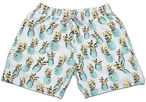 Sundaze Zwemshort van Gentleman's in de vorm van een pineappel, dude collectie 2017, topkwaliteit zwembroek voor heren, maat L