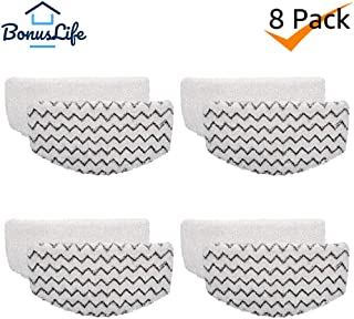 Bonus Life Steam Mop Pads for Bissell Powerfresh Steam Mop 1940 Replacement, 8 Pack