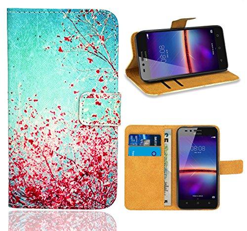 Huawei Y3 II Handy Tasche, FoneExpert® Wallet Hülle Flip Cover Hüllen Etui Ledertasche Lederhülle Premium Schutzhülle für Huawei Y3 II/Huawei Y3 2