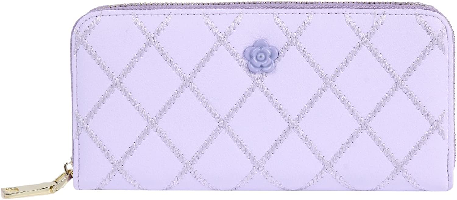 Damara Womens Textured Detachabled Wristlet Clutch Zipper Wallet,Purple