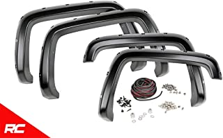 Rough Country Pocket Fender Flares Compatible w/ 2015-2020 Chevy Colorado 5 FT Bed Flat Black Rivet Style F-C11511