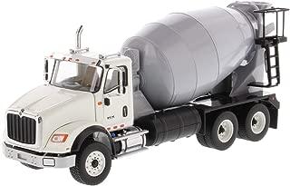 Diecast Masters International HX615 Concrete Mixer White with Grey Mixer Drum 1/50 Diecast Model