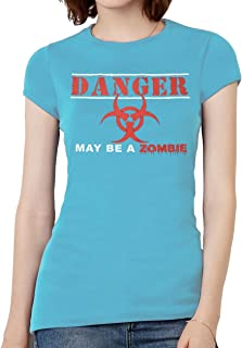 Womens Danger - May Be A Zombie Short-Sleeve T-Shirt