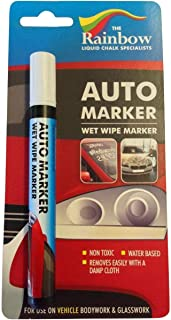 Car Paint Marker Pens Auto Writer White - All Surfaces, Windows, Glass, Tire, Metal - Any Automobile, Truck or Bicycle, Water Based Wet Erase Removable Markers Pen