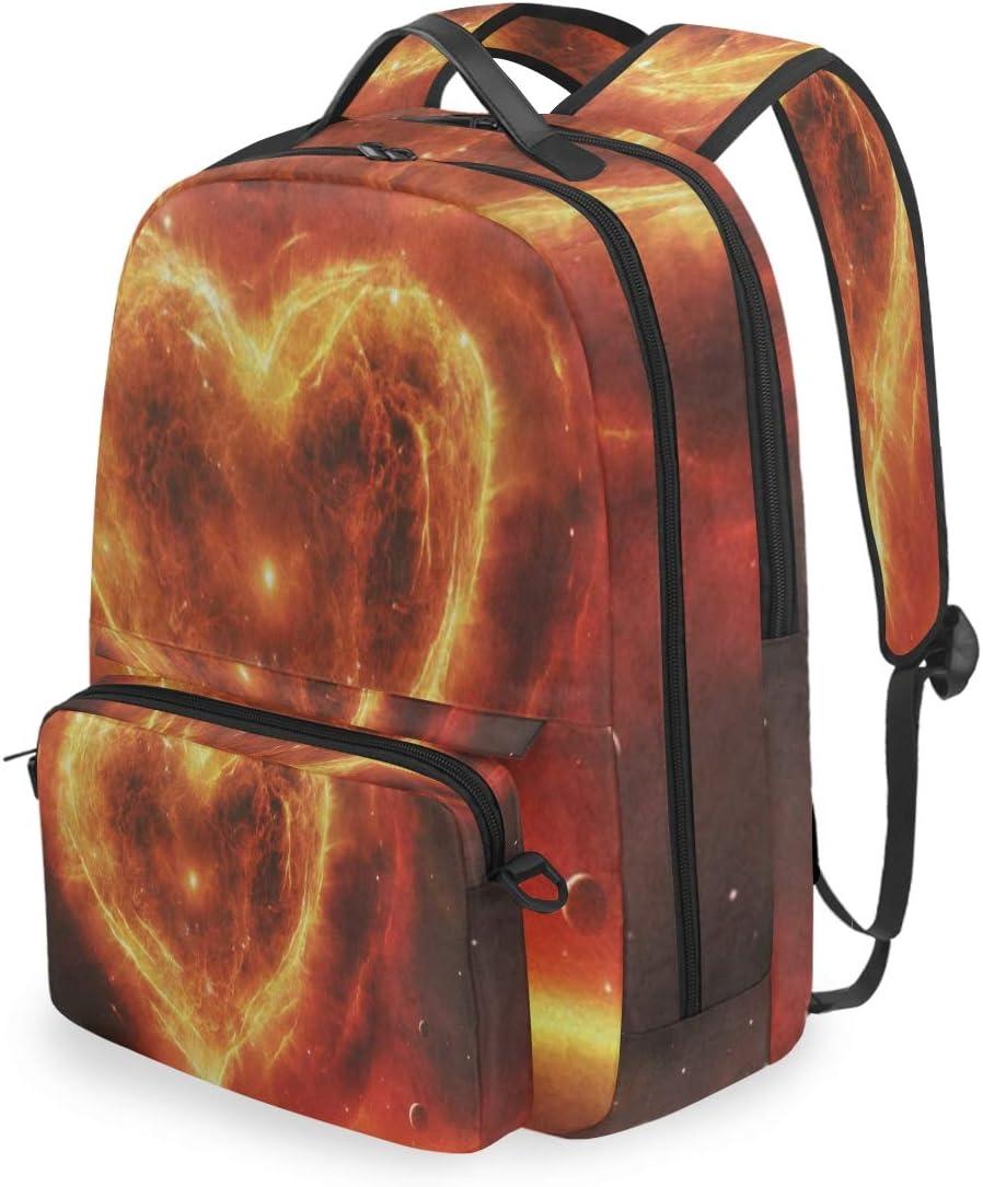 SLHFPX Women//Men Bookbag 3D Artistic Island Backpack with Detachable Crossbody Shoulder Bag for College School Students