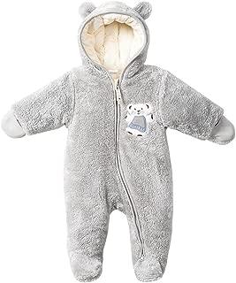 Unisex-Baby Hoodie Fleece Pram Snowsuit