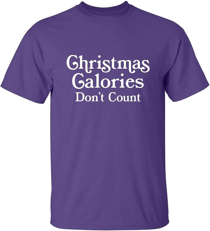 Christmas Calories Don't Count Adult T-Shirt in Purple - XXXX-Large