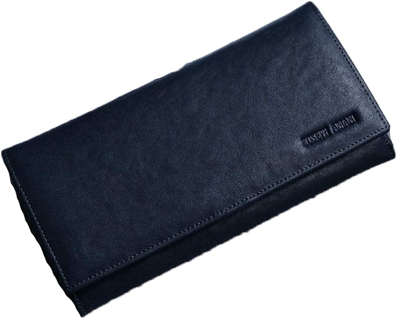 Men's Long Leather Wallet  Soft Leather Wallet  MultiCard Large Capacity Internal Zip Wallet
