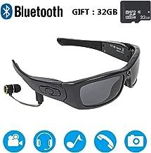JEANN-YJGlasses HD 1080 P Grabadora de Video Bluetooth Auricular Manos Libres Gafas de conducción Deporte Ciclismo Gafas de Sol Regalo 32GB Tarjeta de Memoria