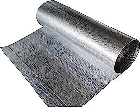 Stasy Impermeable Térmica Reflectante Papel De Aluminio, Escudo De Aislamiento Barrera Radiante para Paredes, áticos, Conductos De Aire, Ventanas, Techos, Radiadores(Size:1x25m (39 in X 82 Ft))