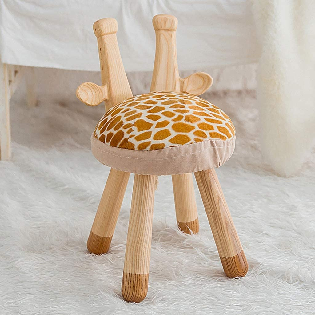 GAIXIA Solid New product Wood Children's Stool Special price Giraffe Foam Chair Shoes Cute
