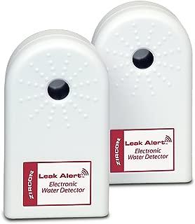 ZirconLeakAlertWaterLeakDetector & Flood Sensor Alarm/ WaterLeakSensor with DualLeakAlarms 90Db Audio/ Battery Powered (2 Pack) Batteries Not Included