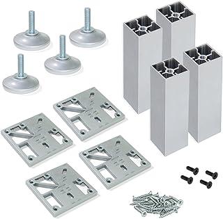 inviare viti di montaggio e piedini protettivi antiossidazione//Nero // gambe per tavoli in filo di ferro adatti per divani tavoli e sedie Piedini per mobili x4 Piedini per mobili a forcina
