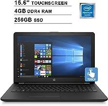 $363 Get HP 2019 Newest 15.6 Inch Touchscreen Laptop (Intel Pentium Quad Core N5000 up to 2.70 GHz, 4GB RAM, 256GB SSD, Intel UHD Graphics 605, WiFi, Bluetooth, Windows 10) (Renewed)