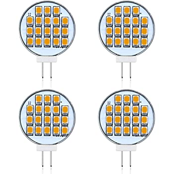 24SMD2835 LED 6-Pack Dimmable 3-Watt T4 G4 disc LED Bulb 12V 24V AC//DC 12 White Color Best to Buy Jc10 Bi-pin 15-22w Replacement