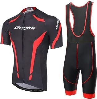 756108911 SKYSPER Ciclismo Maillot, Hombres Jersey + Pantalones Cortos Babero Mangas  Cortas de Ciclismo Ropa Maillot