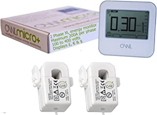 OWL Micro+ CM180 XL 2 Phase Wireless Energy Monitor (2 x 200 amp 17mm CT Sensors)