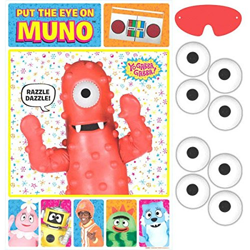 Hip and Hop Yo Gabba Gabba Party Game  Birthday Party Favors   Toy and Prize Giveaway