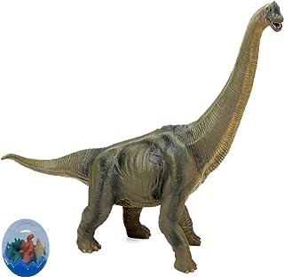 Fuerzon ブラキオサウルス 恐竜 巨大 全長36cm 高さ33cm 重量1kg 迫力 存在感抜群 フィギュア 両足自立 PVC 恐竜消しゴム付き 保証書付き