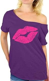 Awkward Styles 80s Shirt Oversized Sexy Neon Pink Lips Shirt 80s Accessories