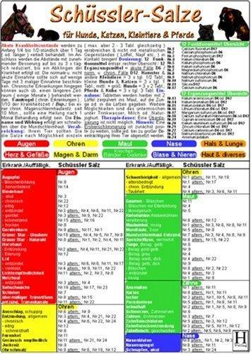 Schüssler-Salze für Tiere - Tierheilkunde Karte: Für Hunde, Katzen, Kleintiere & Pferde (2005-01-01)