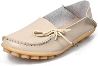 Women Real Leather Shoes Moccasins Mother Loafers Soft Leisure Flats Casual Female Driving Ballet Footwear