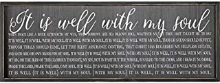 It Is Well With My Soul 32 x 11 Wood Framed Wall Sign Plaque