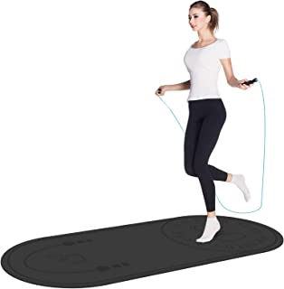 Jump Rope Mat, Aforfu Knees Protection Impact Absorption Durable Jumping Rope Mat with Non-Slip Texture for Home Indoor Wo...