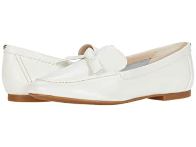 Cole Haan Caddie Bow Loafer (White Soft Grainy Leather/Knot Bow/Tonal Stitch) Women
