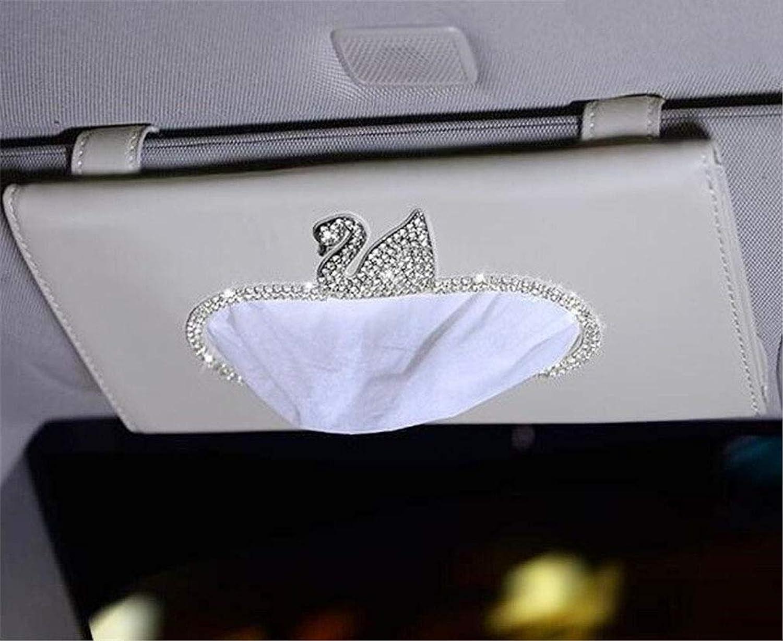 WEILIVE Tissue Box Cover Halter Auto-Tissue-Box, Sonnenblende Tissue Bag Storage handliche Papierserviettenhalter Clip Taschentuchhalter (Farbe   Beige) B07MVZV8YZ