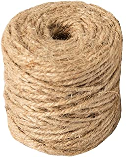 Natural Jute Twine Arts and Crafts Jute Rope Industrial Packing Materials Packing String for DIY Crafts, Festive Decoratio...